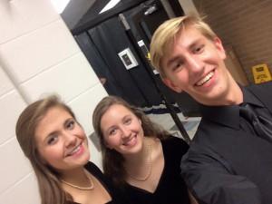 choir concert, Tara, Christina and I